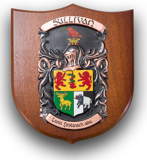 engraved personalised coat of arms family crest gifts