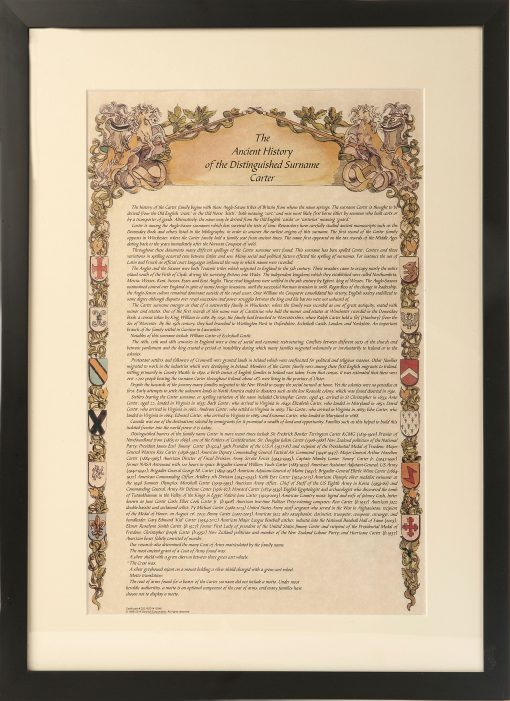 Surname History Certificate