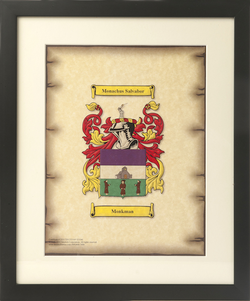 Framed Family Coat of Arms