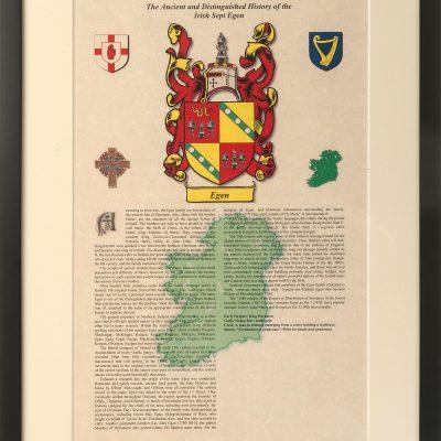 Irish Sept Family History Certificate