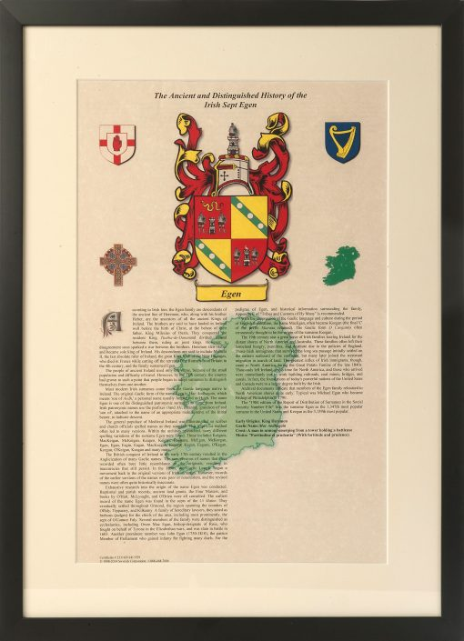 Irish Sept Family History Certificate