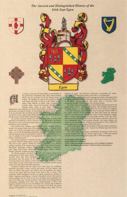 Irish Sept History Certificate