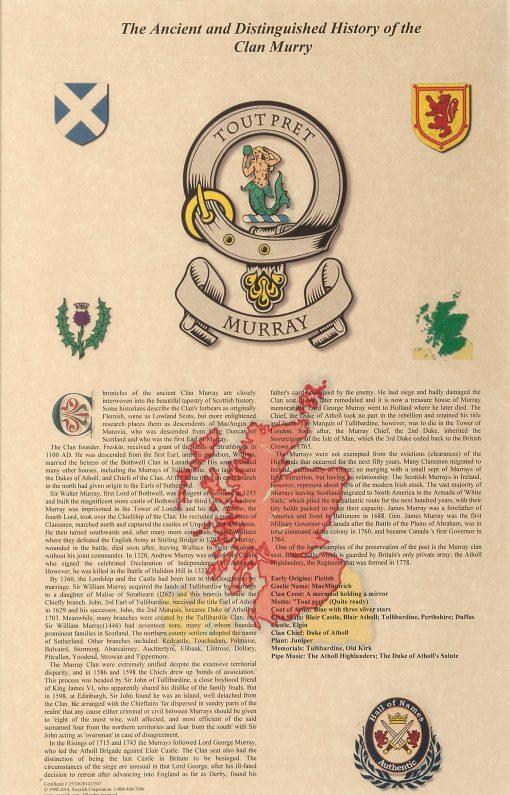 Scottish Clan History Certificate