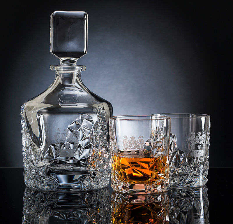 Engraved Whisky Decanter Set - Hall of Names at Lineage