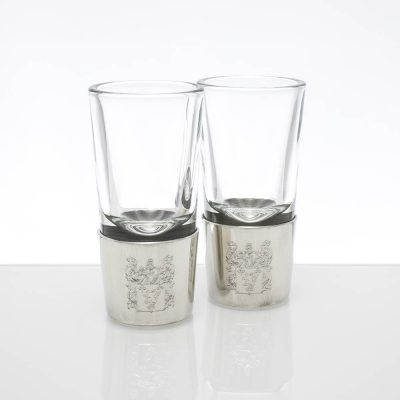engraved pewter shot glasses