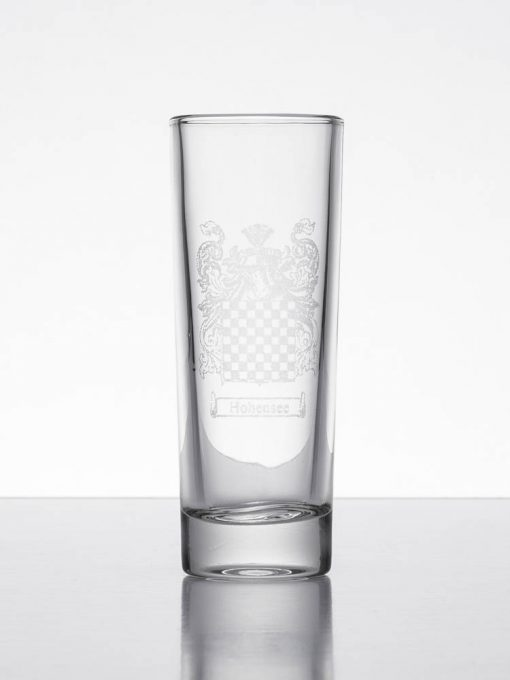 set personalised shot glasses coat of arms