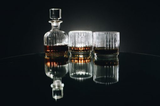 Personalised whiskey decanter and glasses set