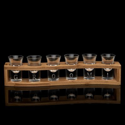 set of personalised shot glasses